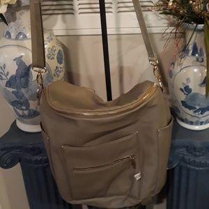 Fawn design crossbody backpack